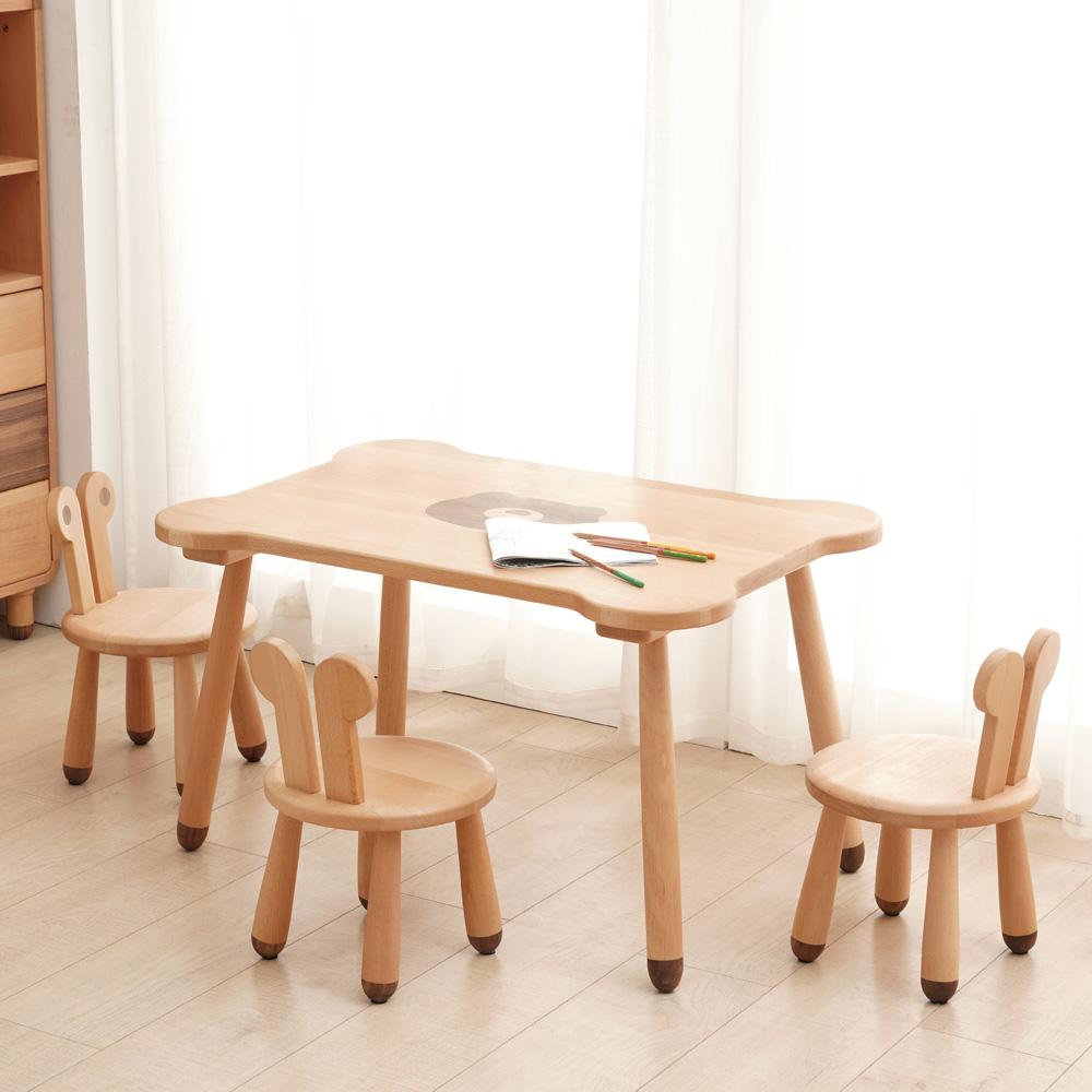 北欧幼儿园学习桌玩具桌DSC04527