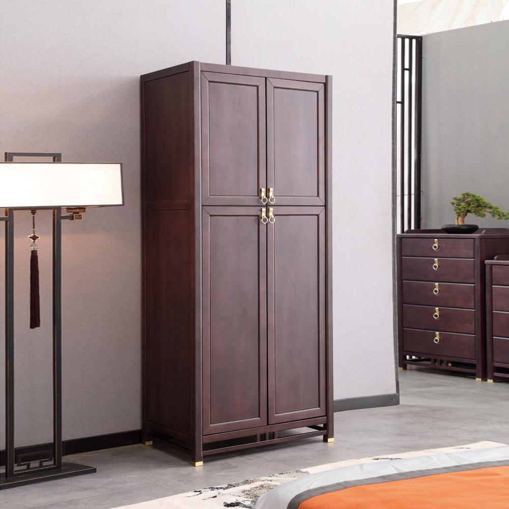 现代新中式衣柜双门衣橱AJ5A8541