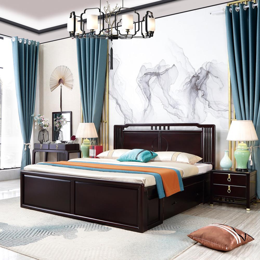 禅意新中式双人床4Z6A9741