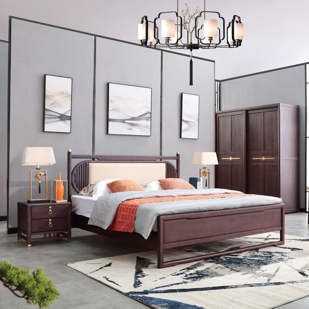 新中式软靠双人床采购AJ5A8070