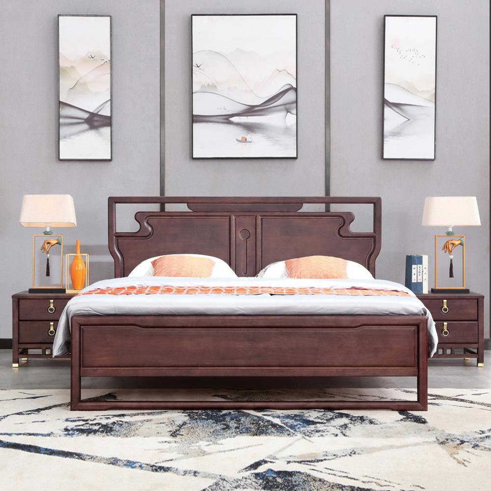 现代新中式双人床厂家AJ5A8174-3