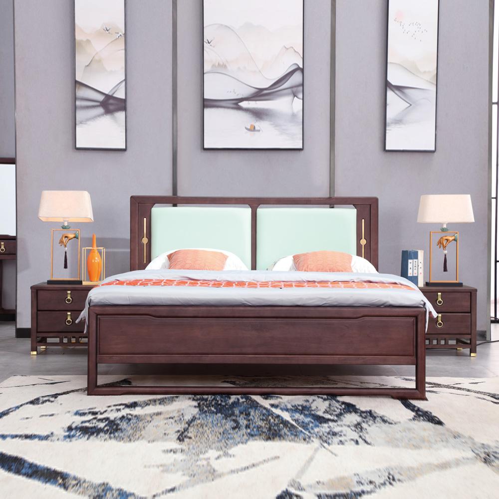 卧室家具新中式双人床AJ5A8181