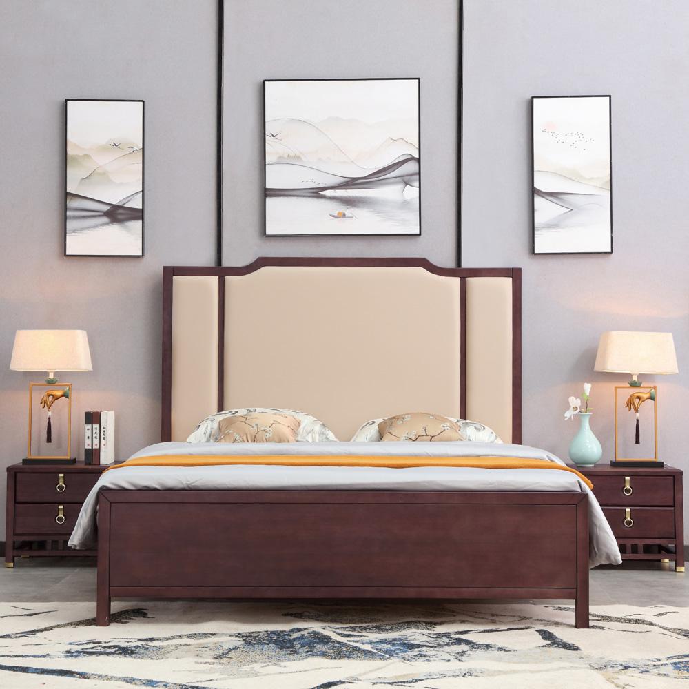 轻奢新中式双人床AJ5A8530-3