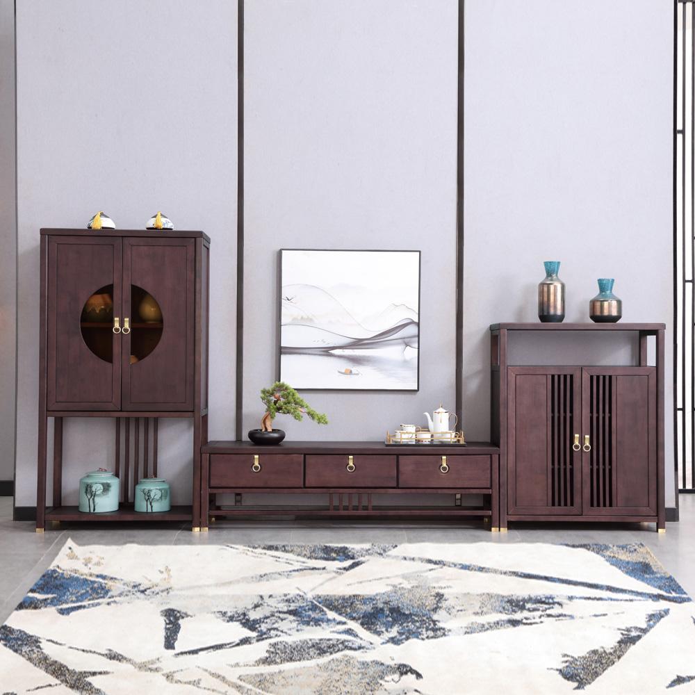 新中式客厅电视柜组合AJ5A8681