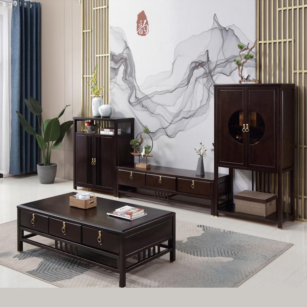 新中式茶几禅意电视柜组合0012125-1