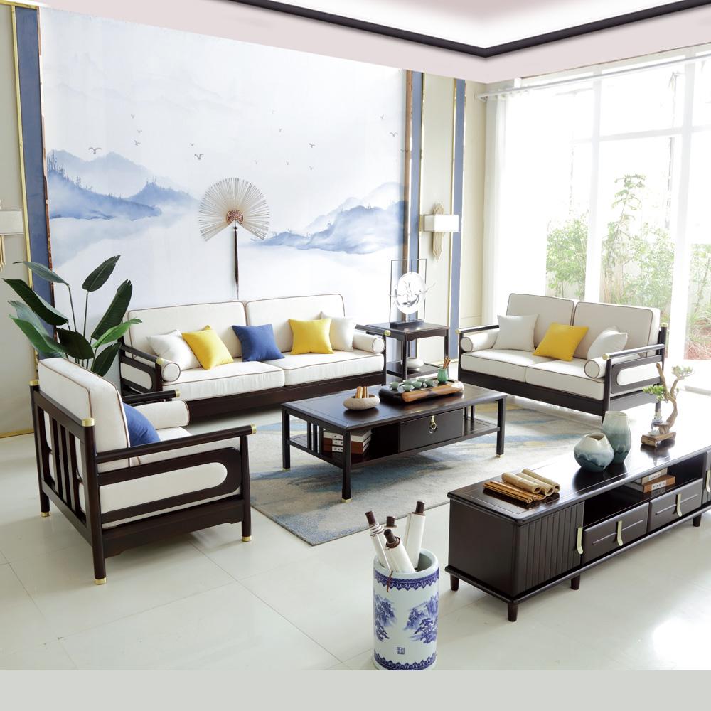 新中式沙发禅意布艺沙发组合4R0A4687