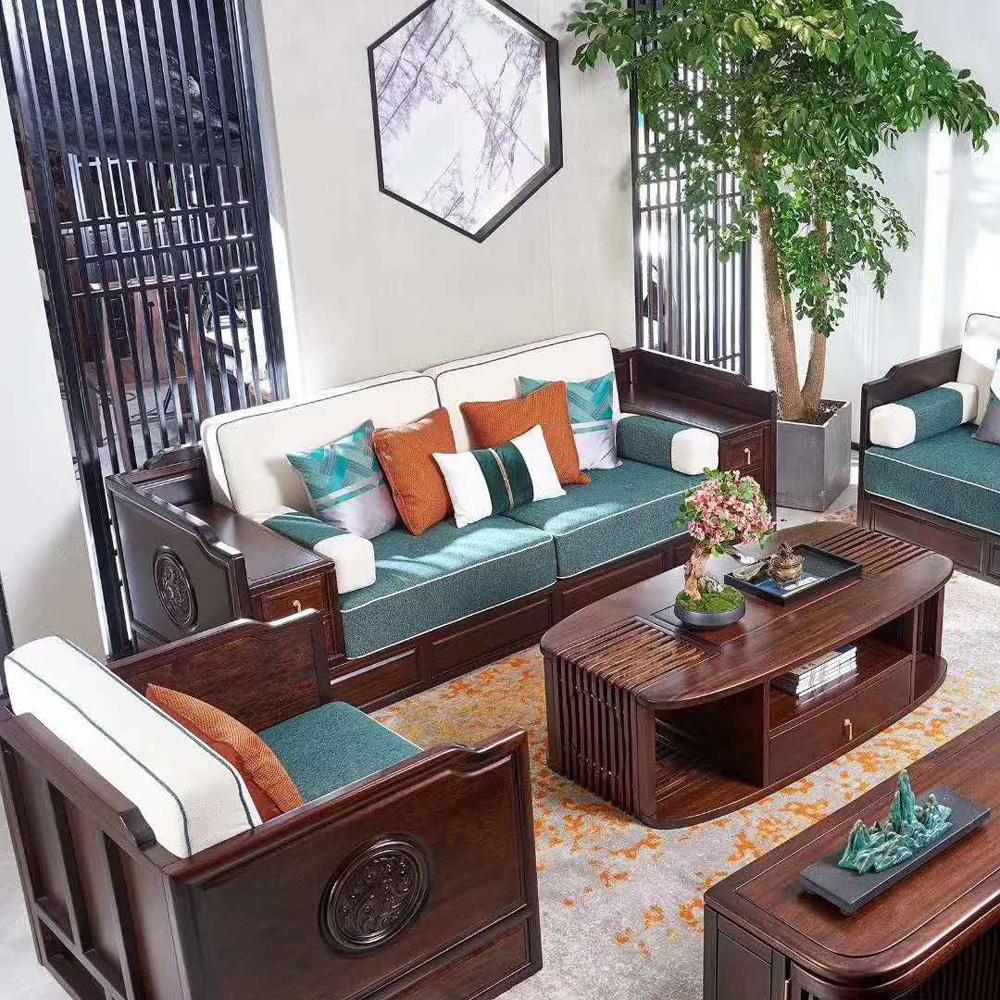 1051 新中式古典组合沙发