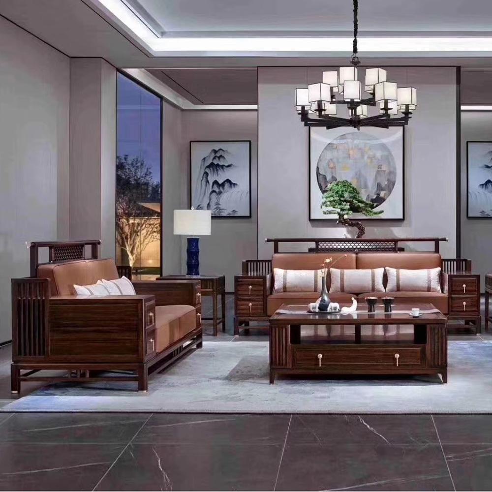 1054 高端新中式组合休闲沙发