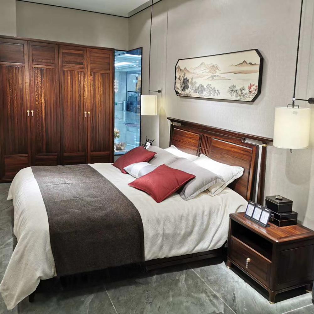 1056 现代中式主卧双人床