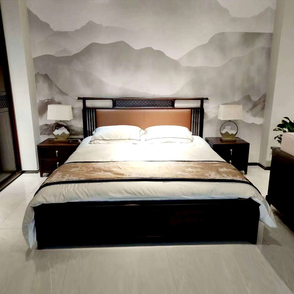 1055 三六零家居中式双人床