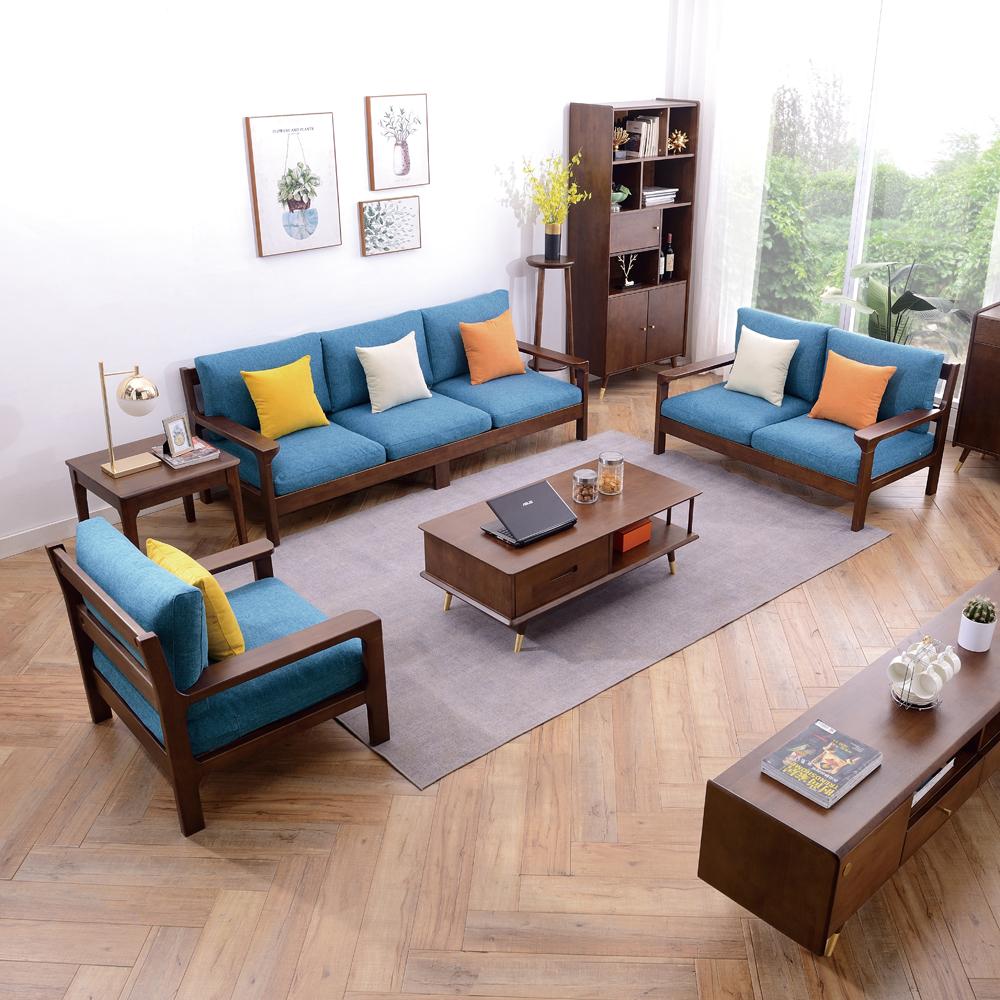 7885 厂家供应北欧客厅布艺组合沙发