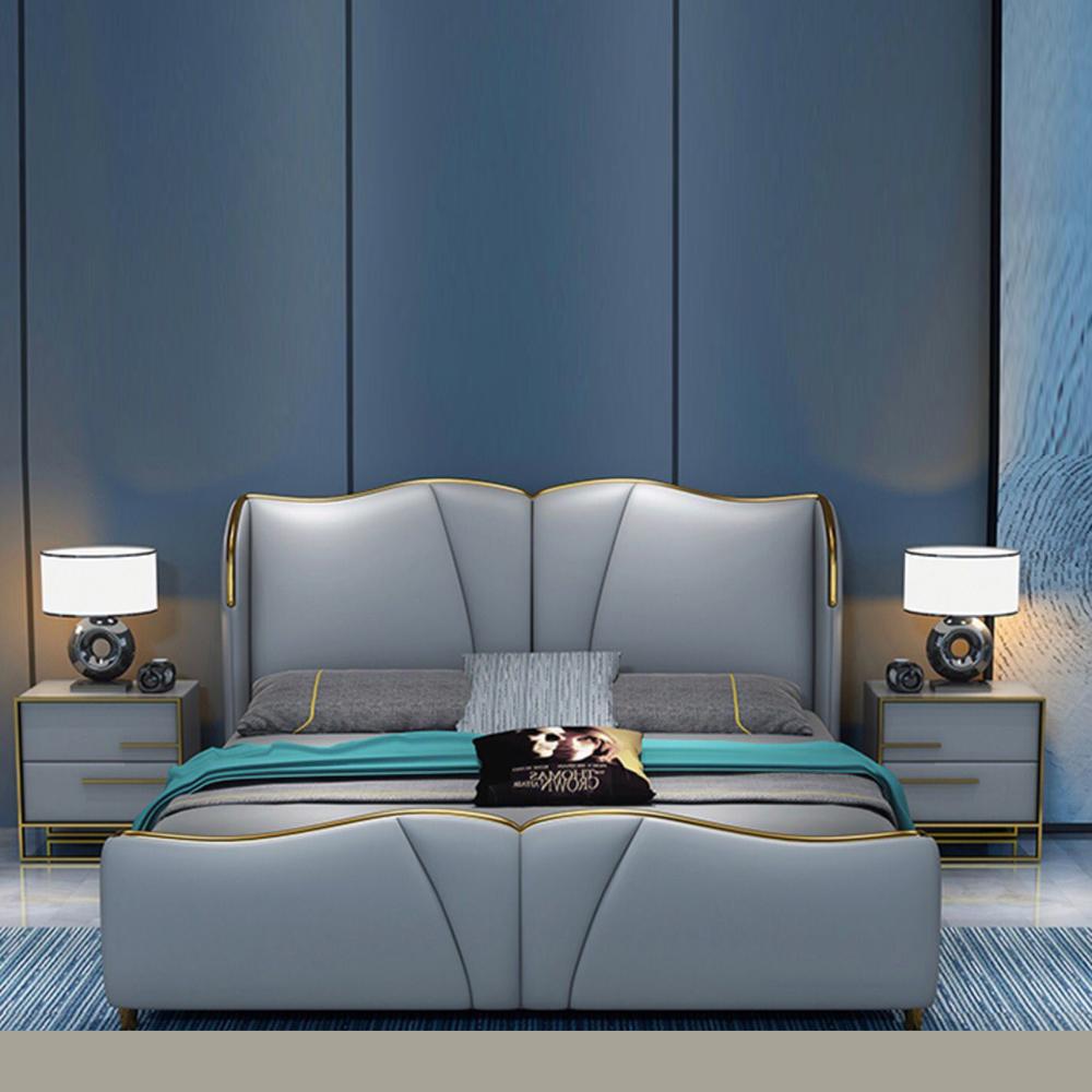 QSC-01  现代轻奢卧室双人床软床