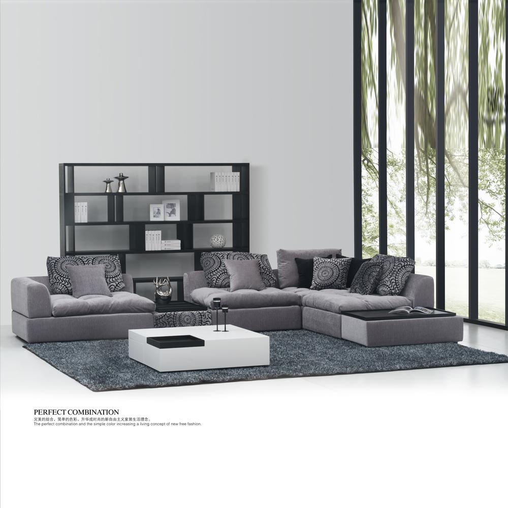 fa9011 意式极简客厅转角沙发