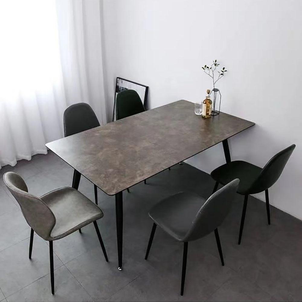 1935花纹灰现代简约餐桌