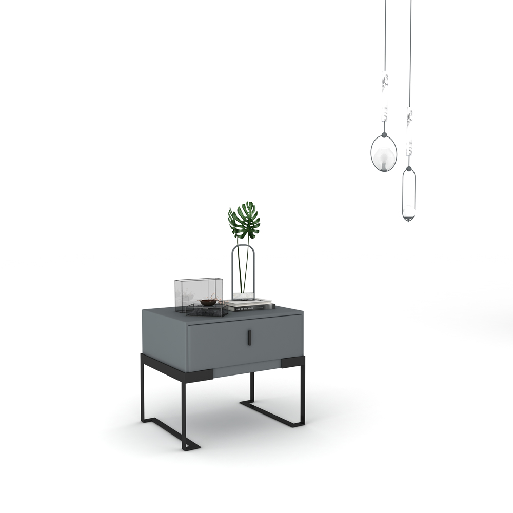 HQS8001 意式极简床头柜软包床头柜