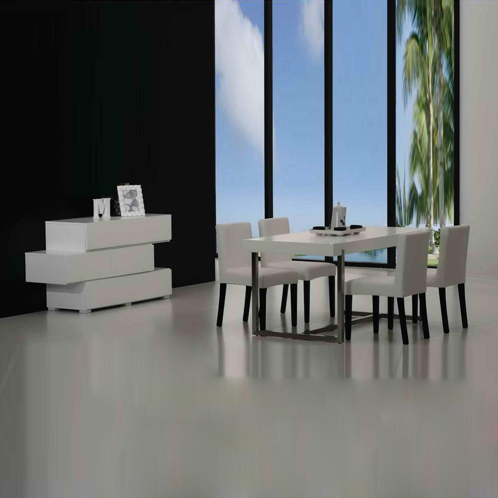 FE011 简约现代长方形餐桌椅价格