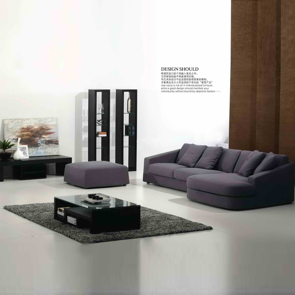 FB8027 简约客厅布艺转角沙发组合沙发