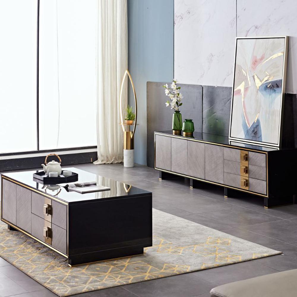 DSG-01 意式轻奢茶几电视柜组合