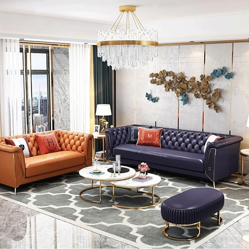 SF-09 高端轻奢客厅真皮休闲沙发