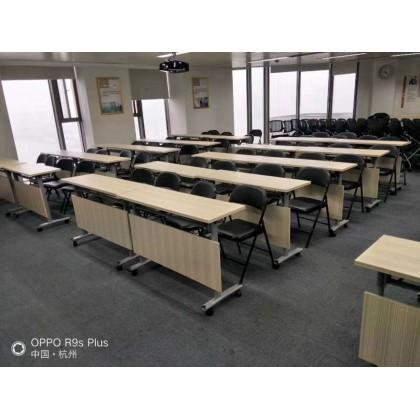 折叠培训椅阅览桌