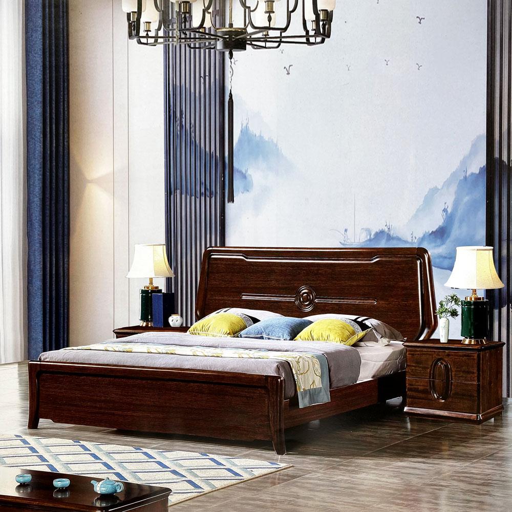 904 黑檀木新中式床