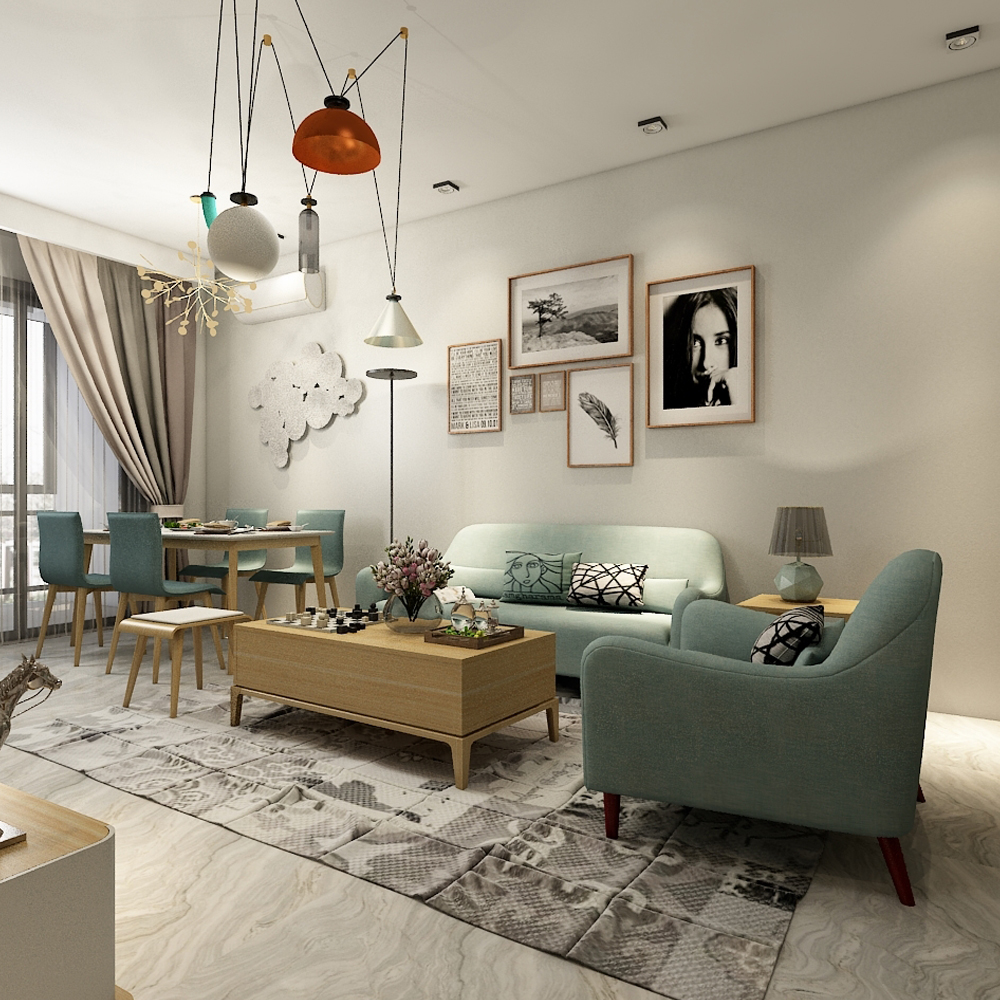 现代跃层小户型家具