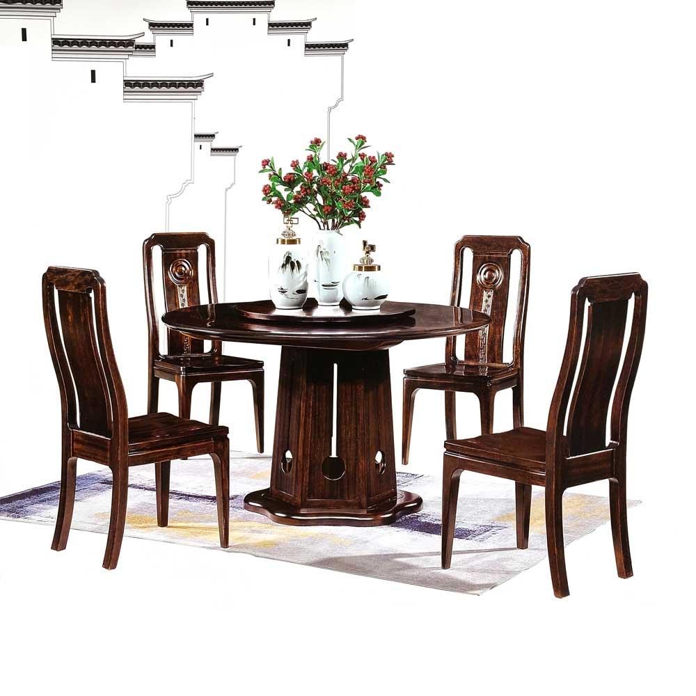 952 黑檀木圆餐桌