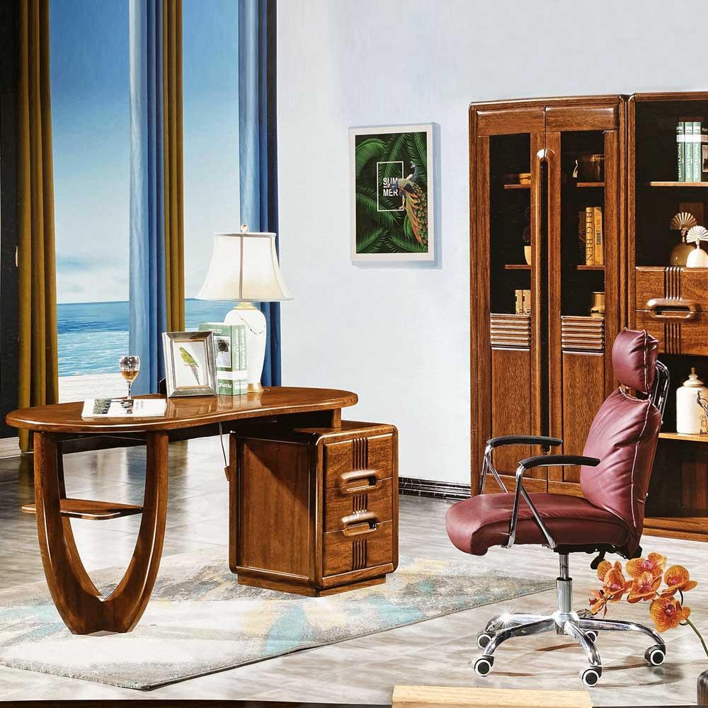 18501 金丝黄檀书桌