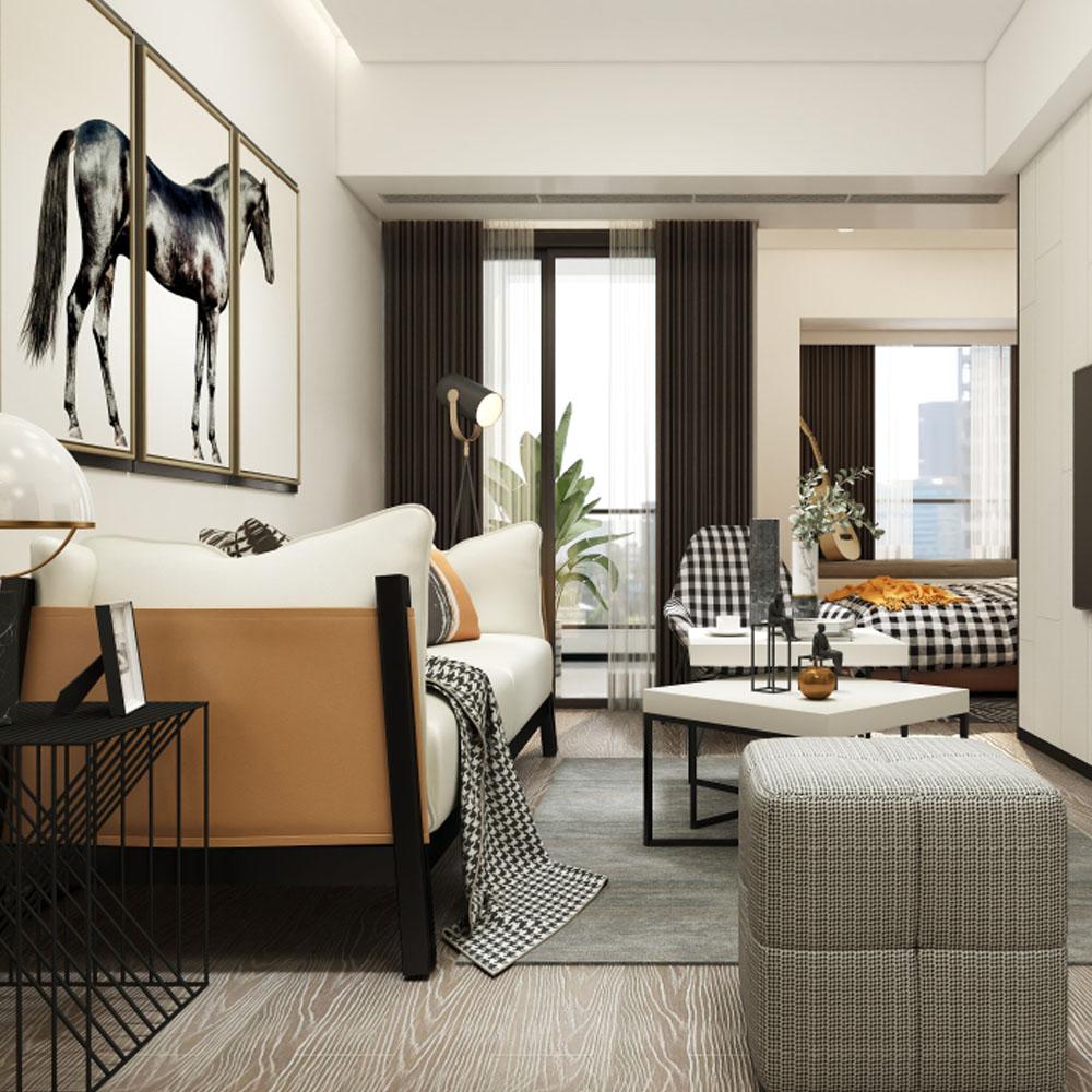 房型现代风格拎包入住项目