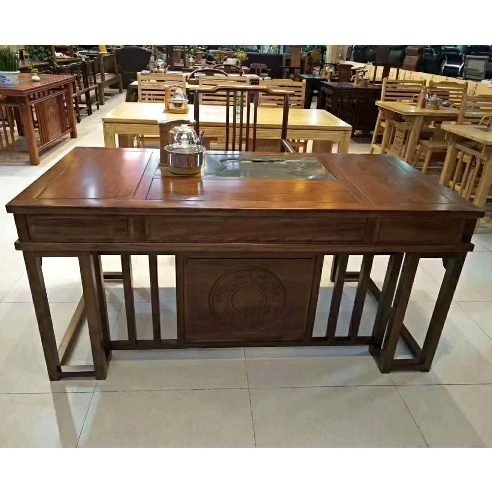 茶桌椅组合实木新中式