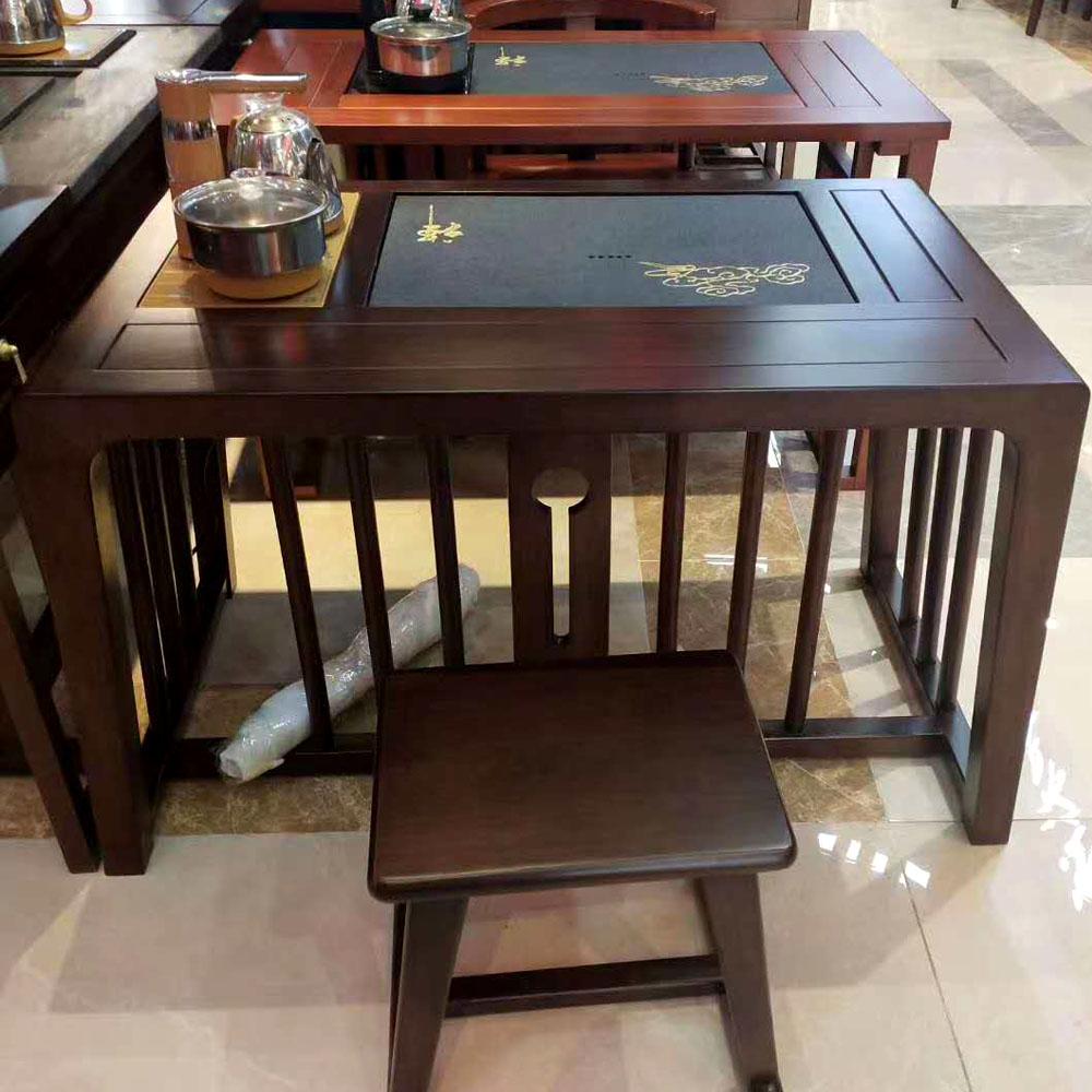 茶桌椅组合实木新中式套装