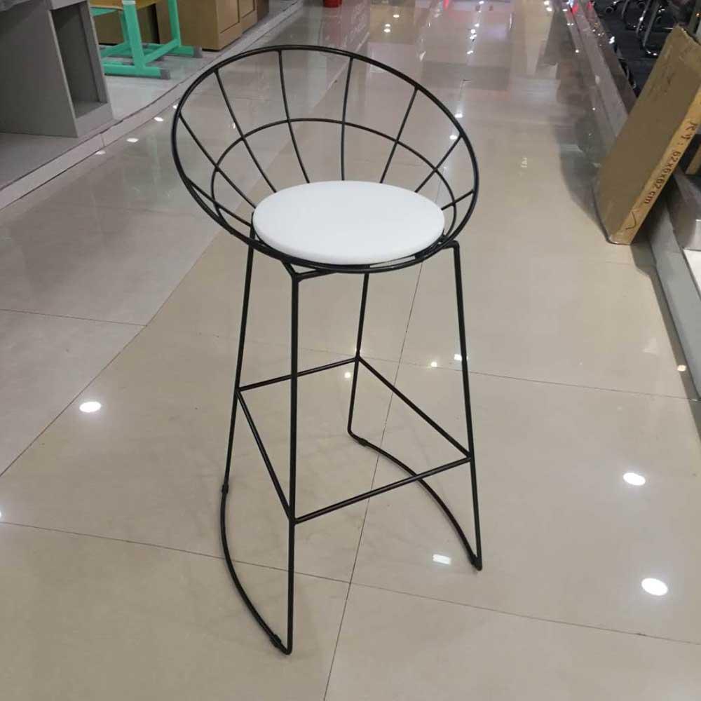 BY-42  北欧铁艺现代简约吧台椅