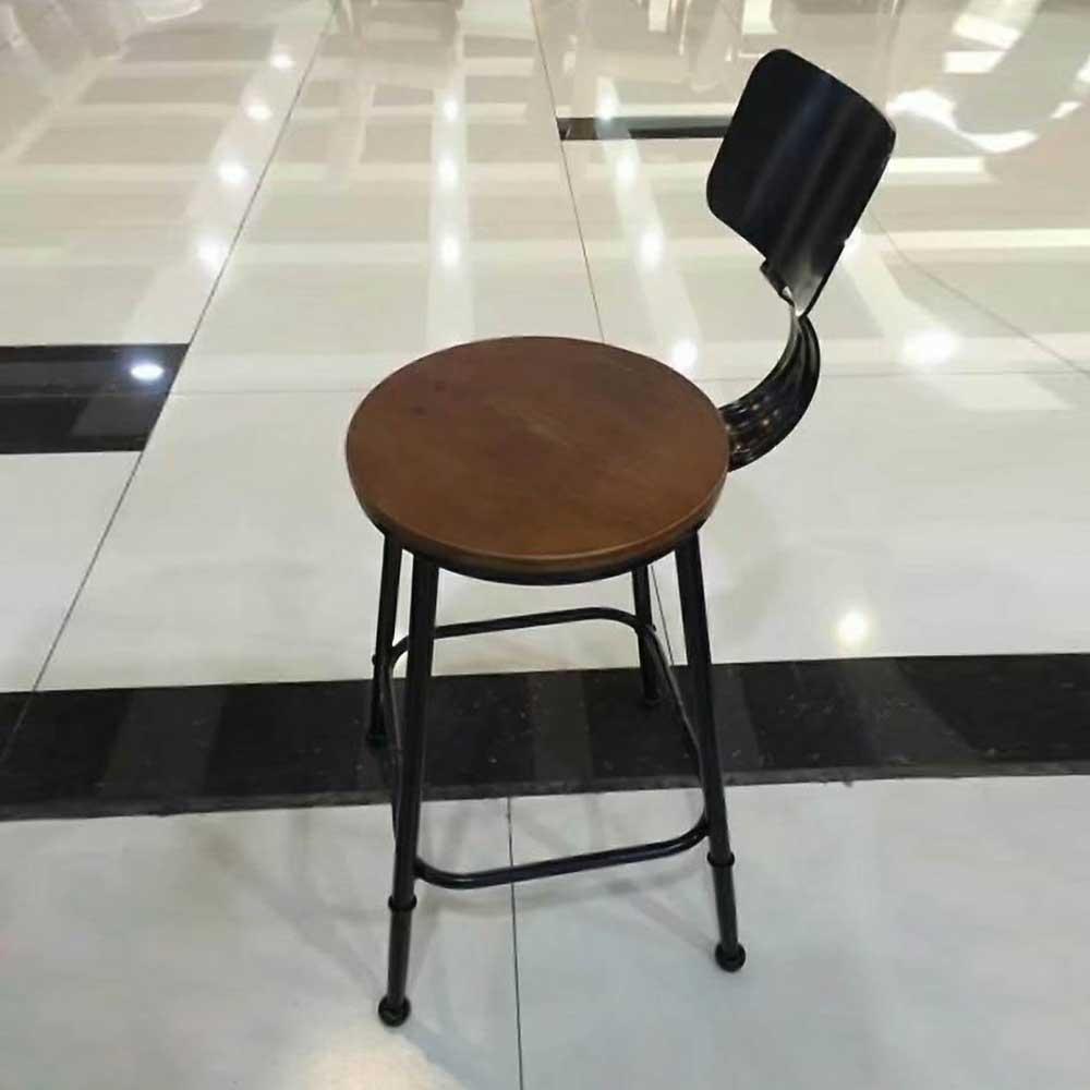 BY-44  铁艺吧台椅酒吧靠背高脚凳