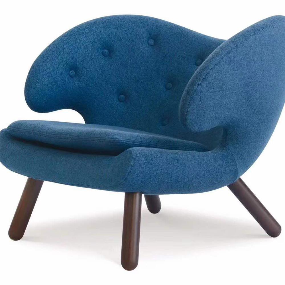 XXY-120 羊角沙发椅经典单人休闲椅