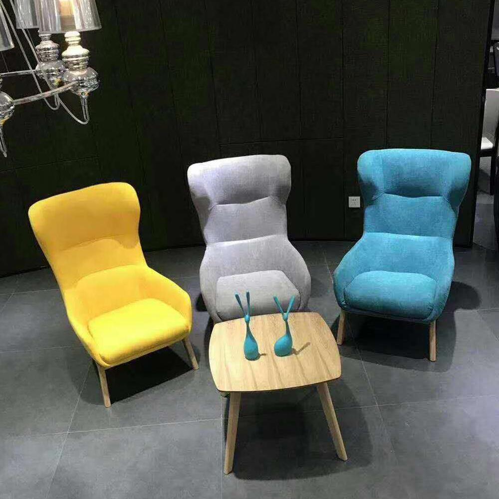 XXY-129 北欧布艺休闲沙发椅单人椅