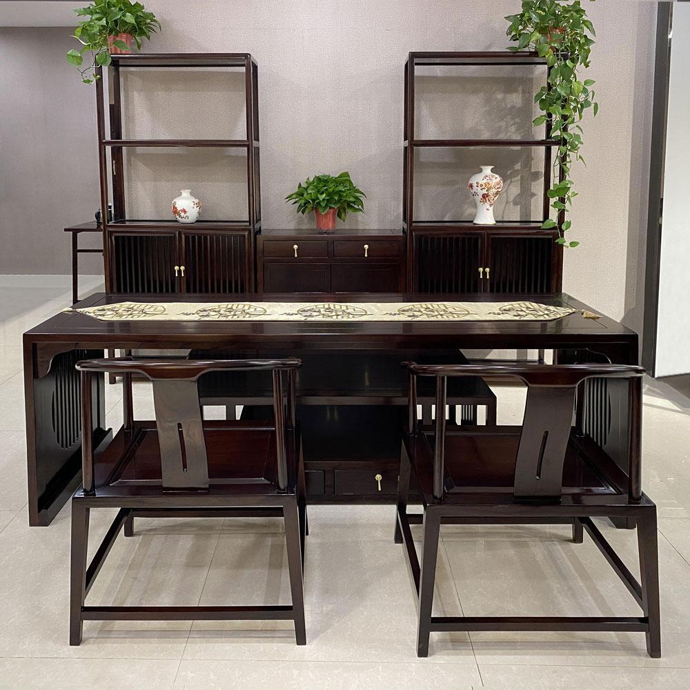 SZ-01 新中式书桌书架