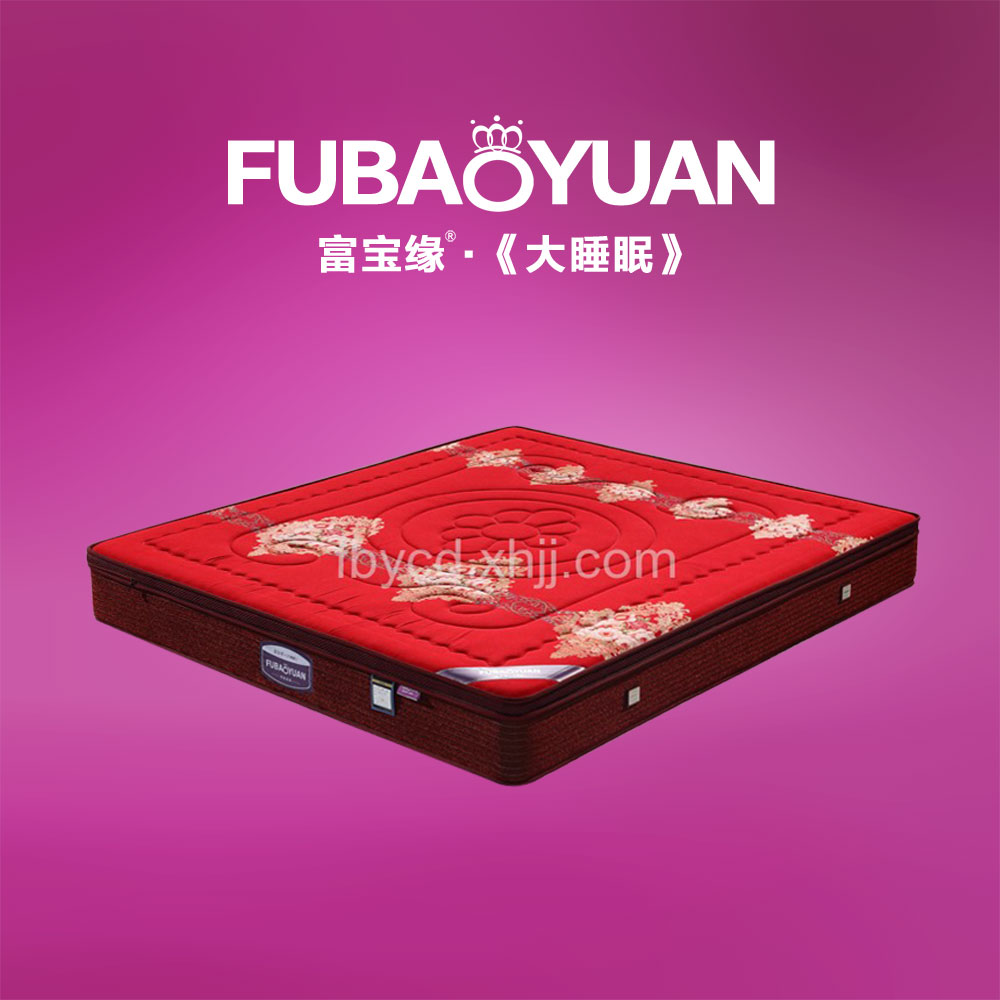 蚕丝棉面料3分环保棕 圆簧床垫价格 F3-11红蚕丝棉