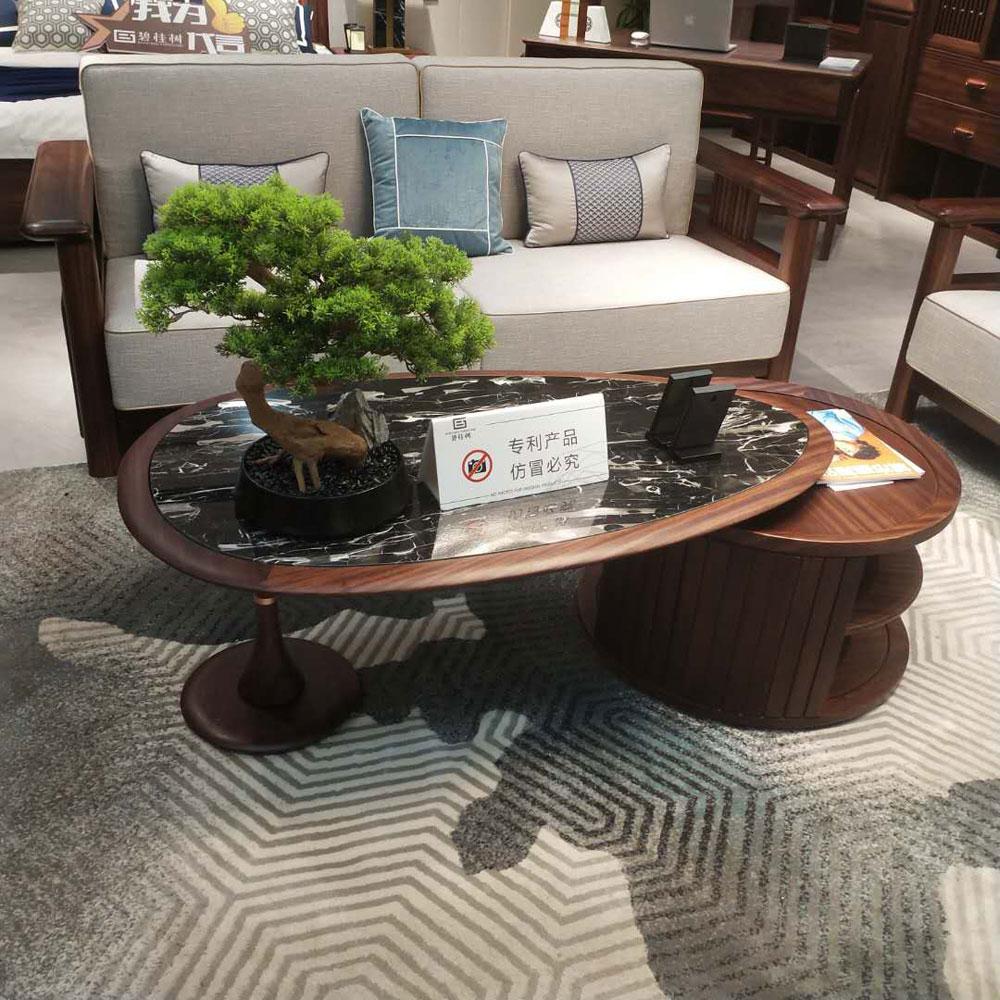 SF-102 乌金木轻奢实木沙发组合