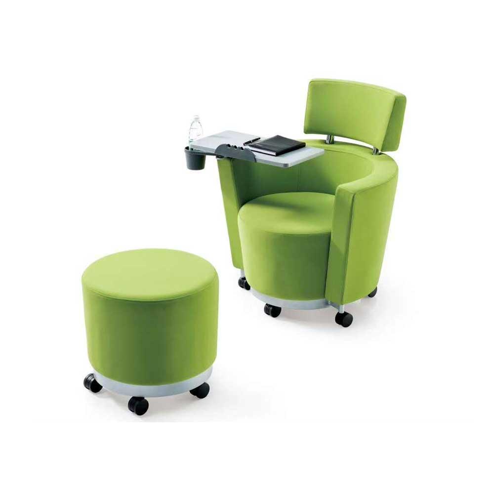 PXY-163 软包带桌板会议椅