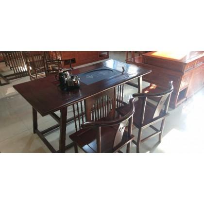 榆木新中式茶桌