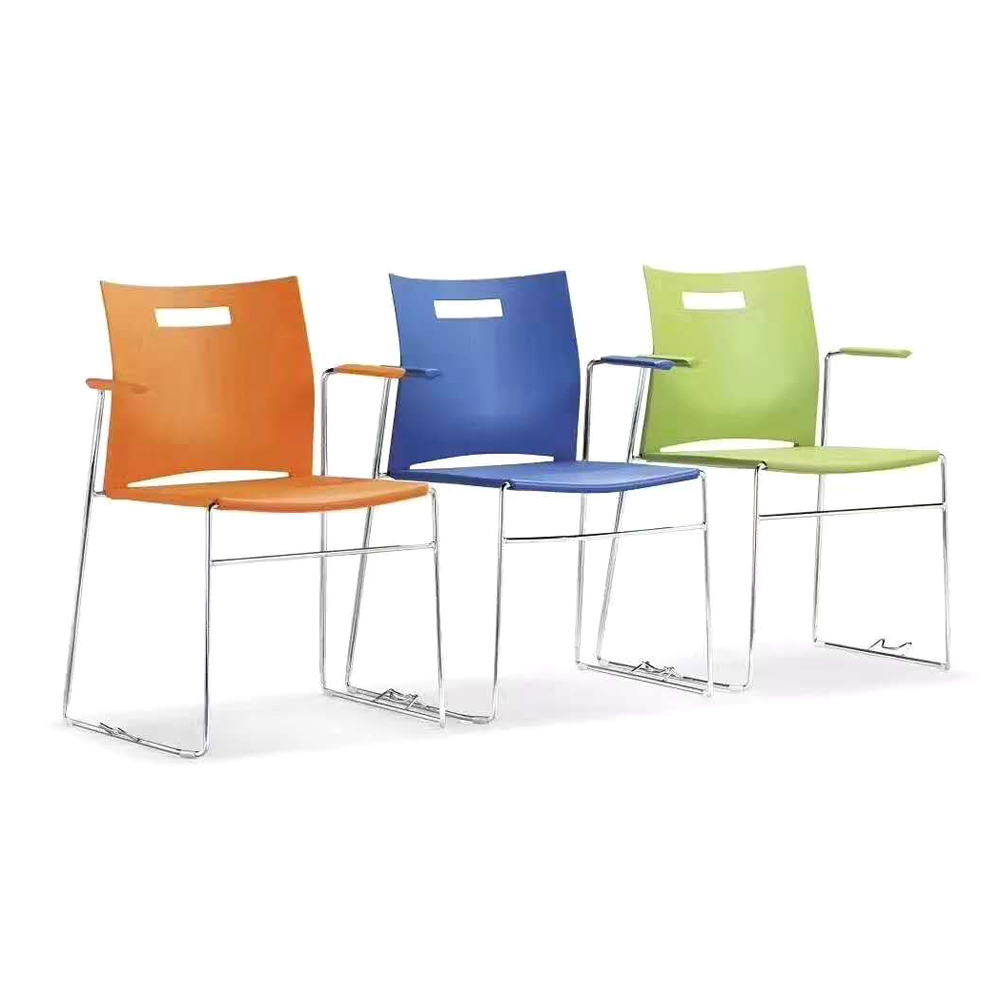 SLY-632 彩色塑料靠背椅办公椅