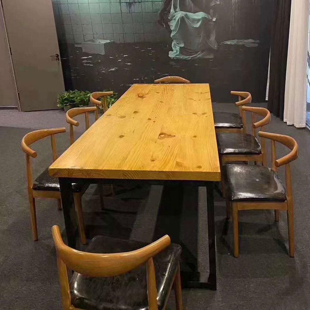 CZY-103 牛角实木餐桌椅