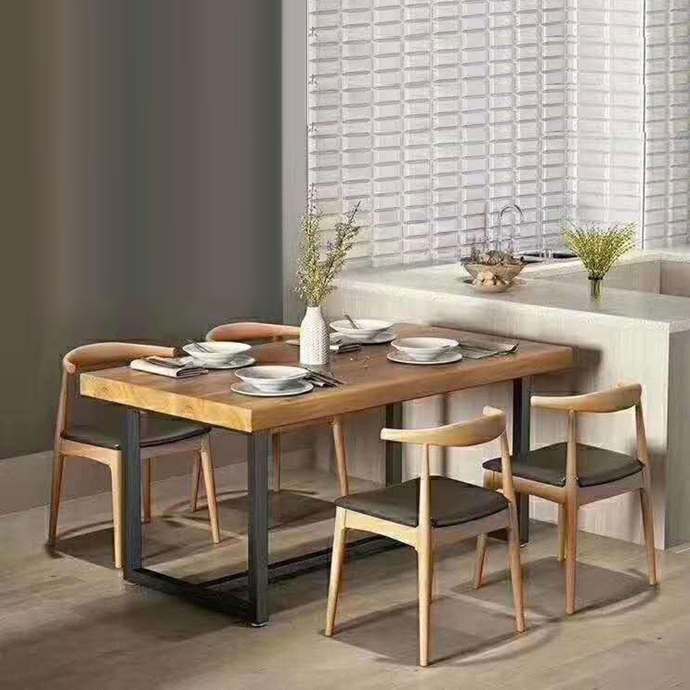 CZY-108  北欧实木铁艺餐桌椅