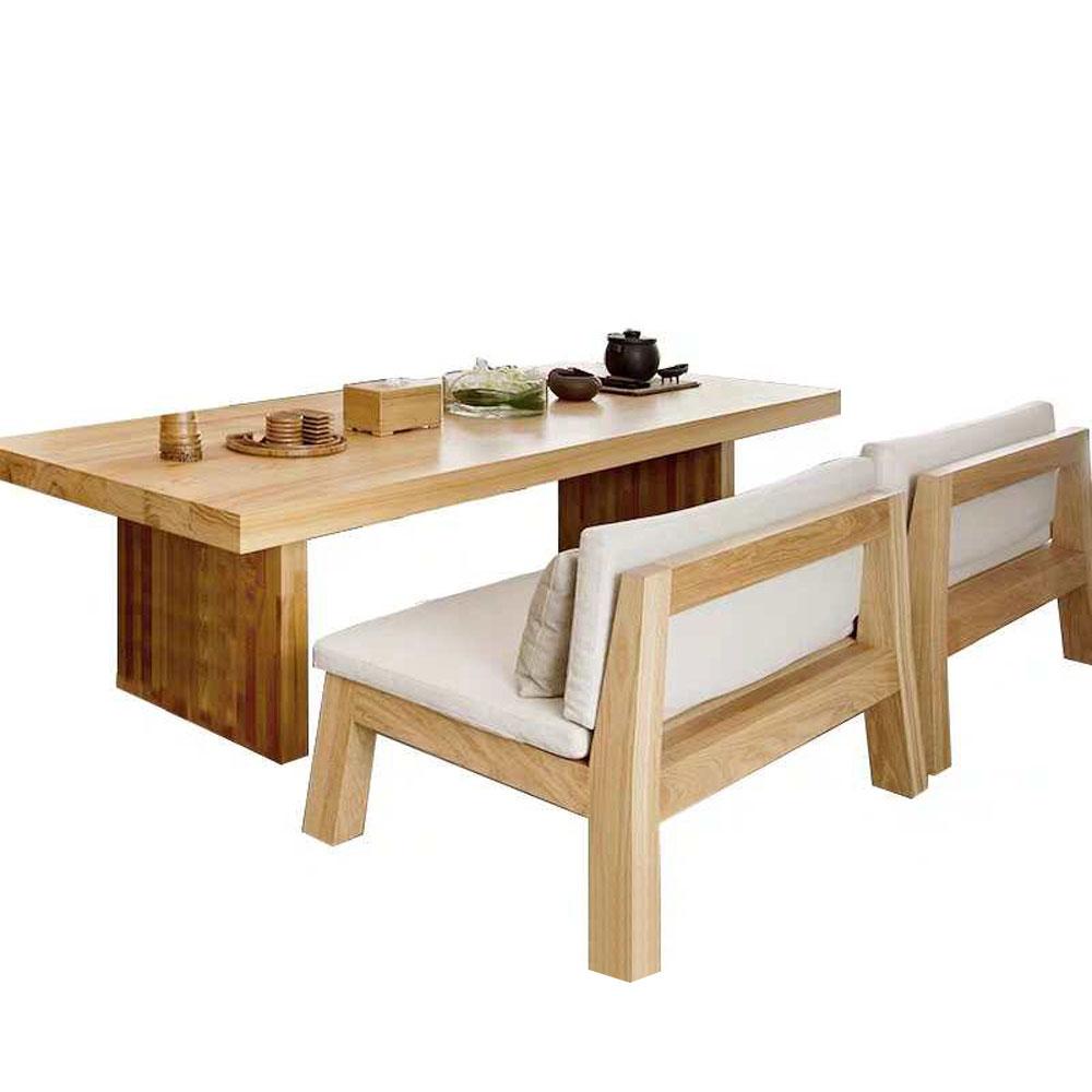 CZY-115  实木铁艺餐桌椅