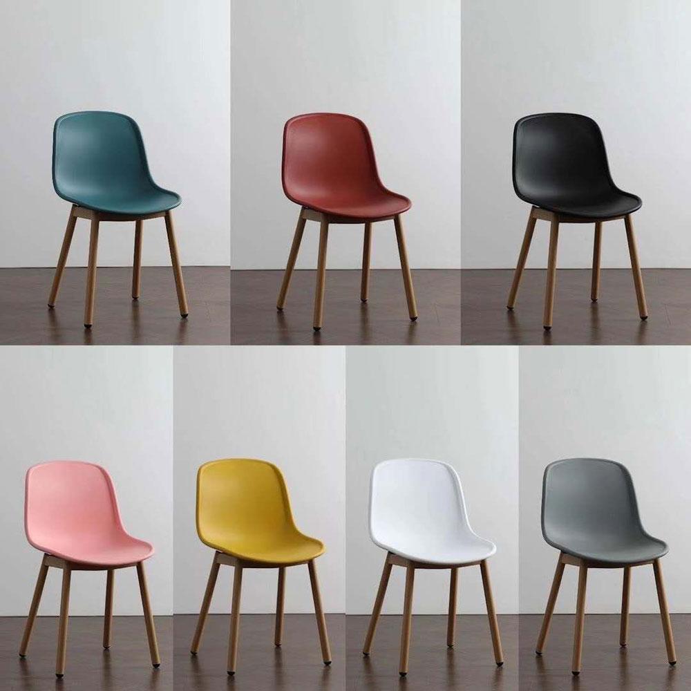PPY-134# 彩色塑料靠背椅