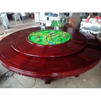 红木电动圆桌