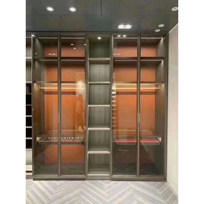 香河全铝定制家具 全铝轻奢玻璃酒柜