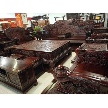 红酸枝加大款沙发     香河月星家具城    御鼎轩