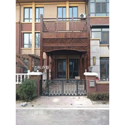 户外廊架二层露台葡萄架凉亭松木围栏室外地板
