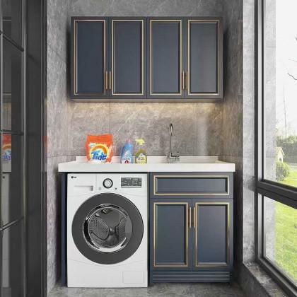 北京全铝厂家定制销售全铝阳台柜洗衣储物柜